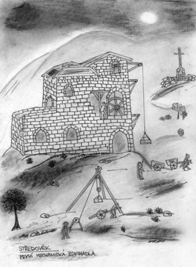Výtahy ve středověku
