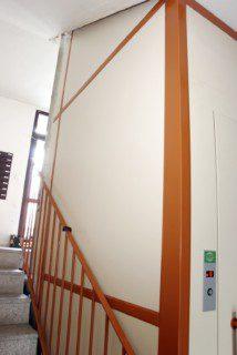 výtahové šachta v panelovém domě