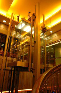 panoramatický výtah ve volném prostoru
