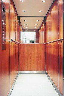 modernizace výtahu v provedení lamino