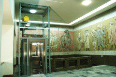 výtah a mozaika