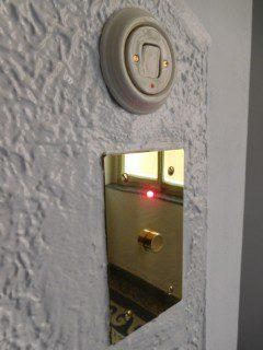 tlačítko přivolávače mosaz