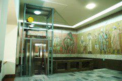 výtah v ocelové konstrukci